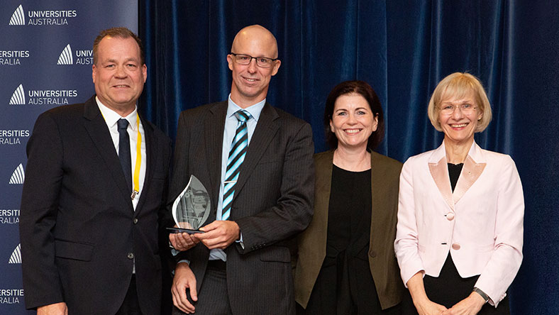 Recipients of the Australian Awards for University Teaching 2020 sponsored by UniBank.